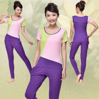春夏莫代爾瑜伽服女套裝形體健身服運動服廣場舞蹈服兩件套2020