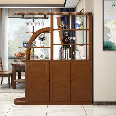 達跶家 全實木玄關柜進門間廳柜客廳隔斷屏風現代簡約雙面鞋柜小戶型酒柜 客廳家具