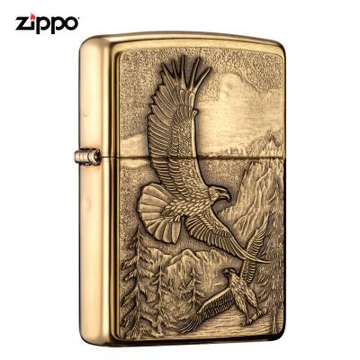 zippo芝寶打火機原裝ZIPPO之寶煤油打火機高山鷹20854-043099