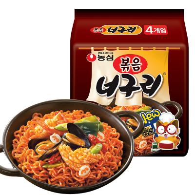韓國進口農心辛拉面出品小浣熊炒烏冬烏龍面137*4方便面非火雞面