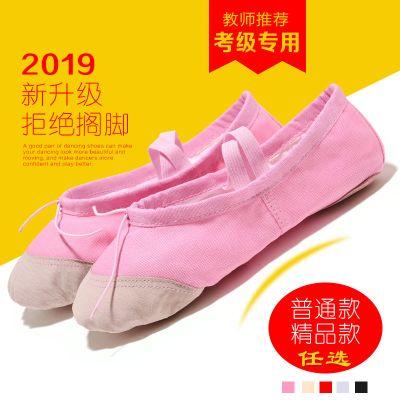 飞言舞蹈鞋女软底儿童成人练功鞋形体猫爪鞋22-45码芭蕾舞鞋男真皮