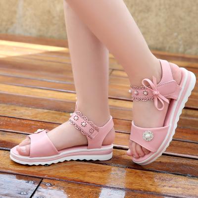 童鞋2019新款女童凉鞋中大童女宝宝凉鞋女孩平底鞋防滑软底鞋子潮