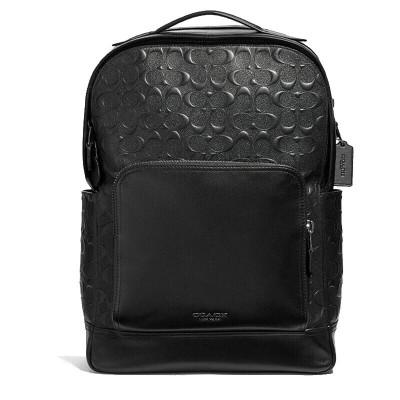 蔻馳 COACH男包雙肩包 新款男士休閑書包商務電腦包時尚戶外旅行包背包