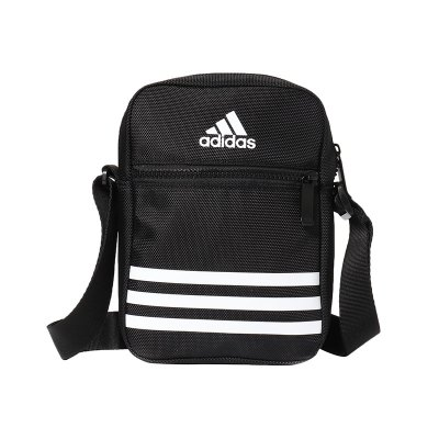 adidas男單肩包訓練休閑運動配件DZ9239 DZ9239黑色