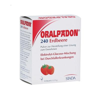 德國進口STADA Oralpaedon電解質水草莓味 嬰幼兒童鹽補水沖調口服液出汗高溫腹瀉拉肚子防脫水飲料