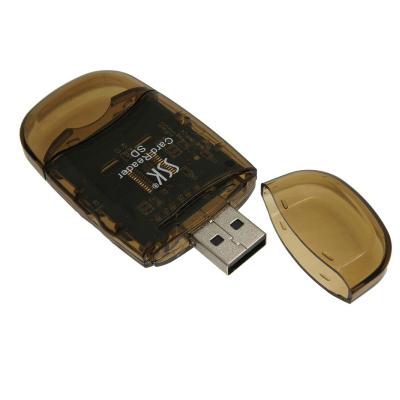 飚王(SSK)SCRS026 水晶SD卡读卡器 MMC卡高速传输读卡器