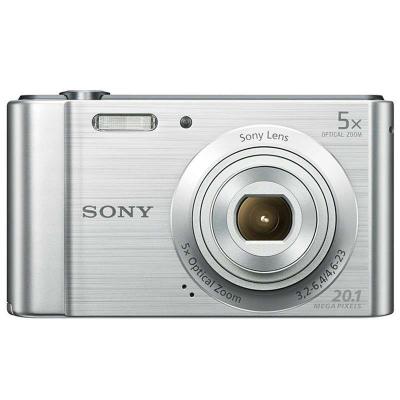 索尼(SONY) DSC-W800 數碼相機/照相機/卡片機 銀色 CCD傳感器 2.7英寸顯示屏 2010萬像素
