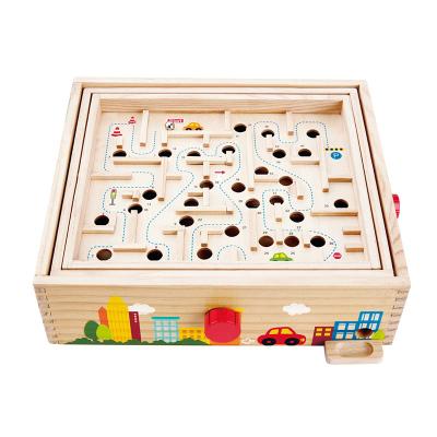 Hape超級滾珠迷宮3-6歲玩具掌握平衡兒童寶寶早教立體游戲盒親子互動男孩女孩玩具E8355