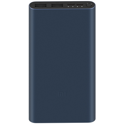 小米(MI)移動電源3 10000毫安mAh快充版 黑色1萬毫安充電寶沖