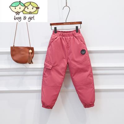 冬季兒童羽絨褲男童女童寶寶加厚90白鴨絨東北外穿中小童洋氣褲子  喻婁