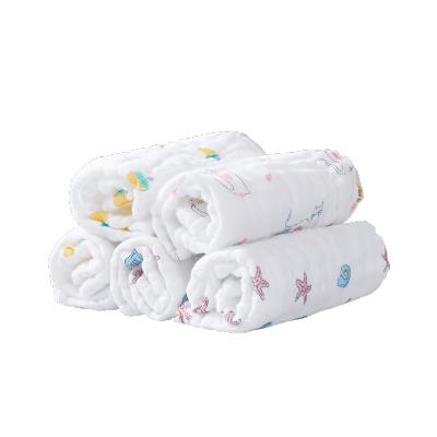 子初口水巾新生兒洗臉純棉紗布嬰兒小方巾超柔超軟手帕圍嘴、
