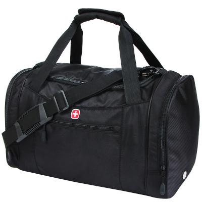 送包+干濕分離鞋倉+運費險 新SWISSGEAR旅行包 男女通用瑞士軍刀手提包大容量旅行袋 商務行李包短途旅游包