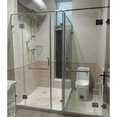 纳丽雅(Naliya)北京定做淋浴房 一字型L形卫生间玻璃隔断 浴室屏风 钢化玻璃移 北京预约上门测量 不含蒸汽1平方米
