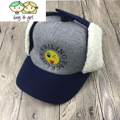 秋冬季儿童护耳帽子男童加厚保暖鸭舌帽韩版百搭加绒棒球帽女童潮