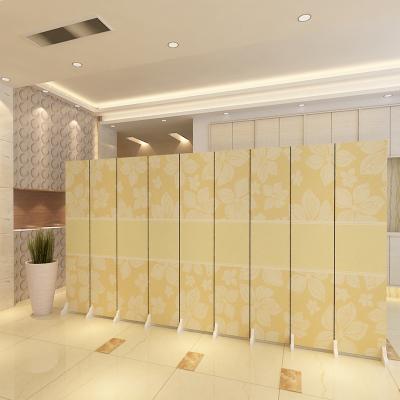 屏風隔斷客廳實木現代簡約酒店辦公室歐式布藝簡易移動可折疊折屏 L5(一扇價格)