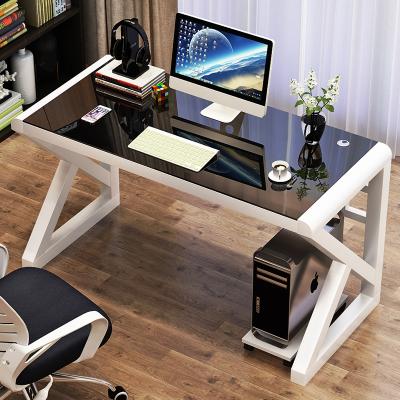 电脑台式桌家用简约现代经济型书桌古达简易钢化玻璃电脑桌学习桌子