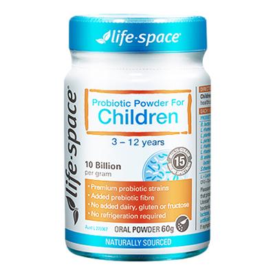 預售2周發【第2件減5元】Life Space兒童益生菌粉60g/瓶裝 澳洲原裝進口 適合兒童(三歲及以上)