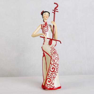 创意家居摆件手绘树脂工艺品 新中式人物客厅摆饰装饰品纪念品