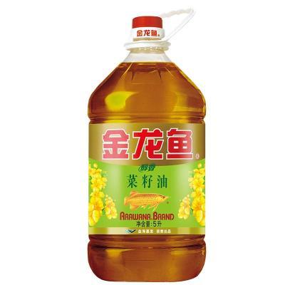 金龙鱼 醇香菜籽油 5L 桶装食用油