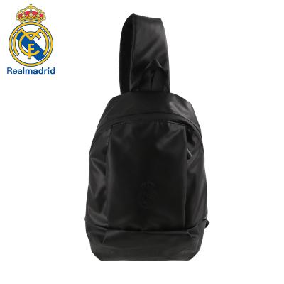 皇家馬德里Realmadrid官方正品時尚男女士多功能大容量書包運動戶外訓練旅行單肩挎包背包胸包黑色