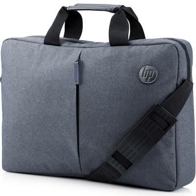 hp惠普電腦包14英寸/15.6英寸筆記本電腦手提包防潑水斜挎單肩包男商務公文包 灰色