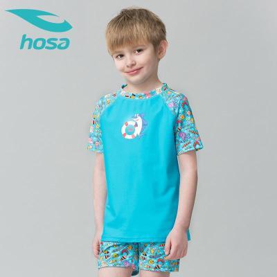 hosa浩沙兒童泳衣分體兩件套 男童中大童2020新款 卡通可愛游泳褲