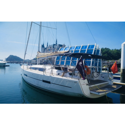 大連41尺進口帆船海上觀光、釣魚、朋友聚會,1小時特惠價格