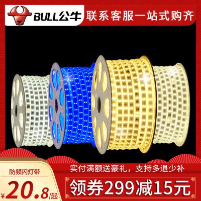 bullL公牛led灯带光源暖白冷白灯带客厅卧室照明220v贴片柔性双排条灯光灯LED光源