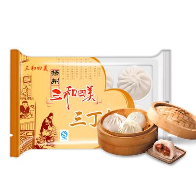 揚州特產包子三和四美包子三丁包子300g速凍食品早餐面點小吃速凍包子