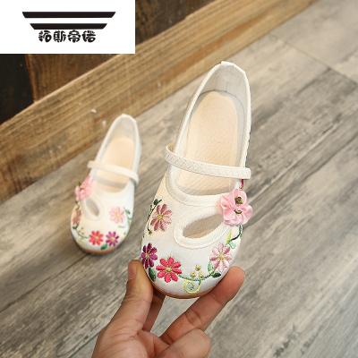 老北京布鞋女童繡花鞋兒童表演舞蹈鞋兒童古裝漢服鞋女孩布鞋童鞋