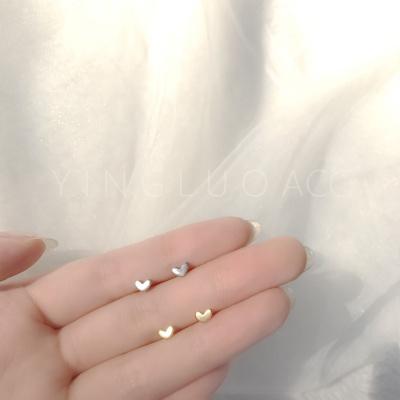 S925銀耳釘女學生簡約迷你百搭養耳洞耳環耳棒