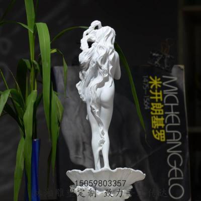 維納斯的誕生像擺件 各類人物塑定制 北歐美少女人體愛神女神【定制】 白色