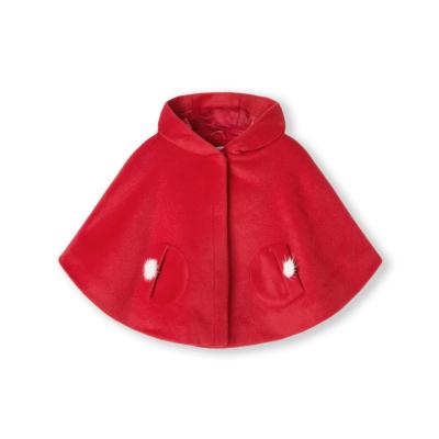 巴拉巴拉童装女童呢子大衣2019秋冬宝宝毛呢儿童外套韩版加绒斗篷