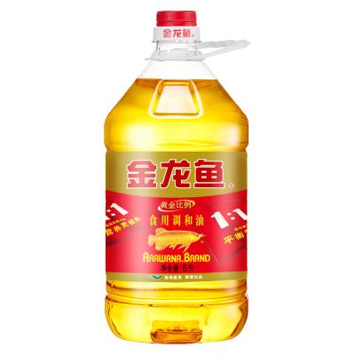 金龙鱼 食用油黄金比例调和油5L 健康配比1:1:1植物油粮油