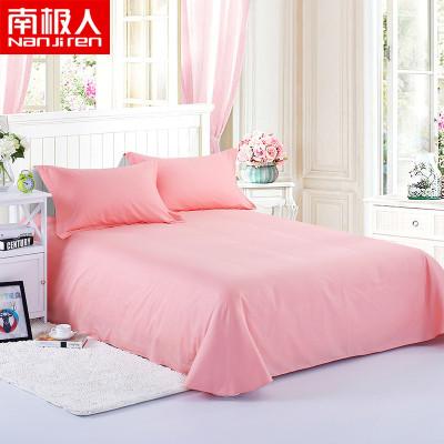 南極人(NanJiren)家紡 純棉床單單件 床上用品1.2m床1.5m床1.8米床全棉床單純色床罩單品