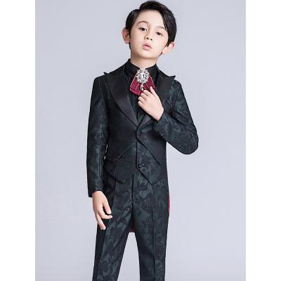 儿童燕尾服中大童三件套男童西装套装小西服花童礼服男钢琴演出服