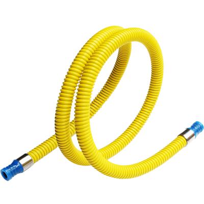 今安 家用液化氣管燃氣灶煤氣灶管子熱水器金屬連接管天然氣液化氣灶具軟管 2米 雙插口