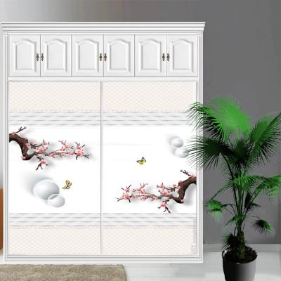 衣柜CIAA定做衣櫥推拉壁柜簡約滑動3定制鋼化玻璃衣柜移 3