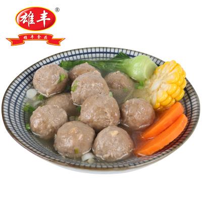 雄豐牛筋丸500g包裝小吃打火鍋麻辣燙關東煮肉丸子食材