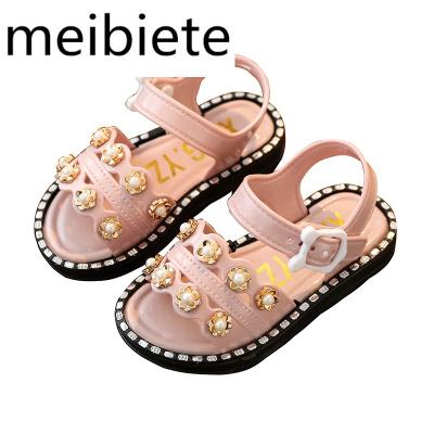 女童涼鞋20夏季新款韓版小公主軟底防滑女孩寶寶沙灘鞋兒童鞋子