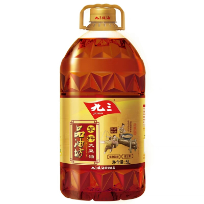 正品 九三大豆油 古法笨榨东北大豆油 5升 品油坊压榨非转基因食用油 新老包装