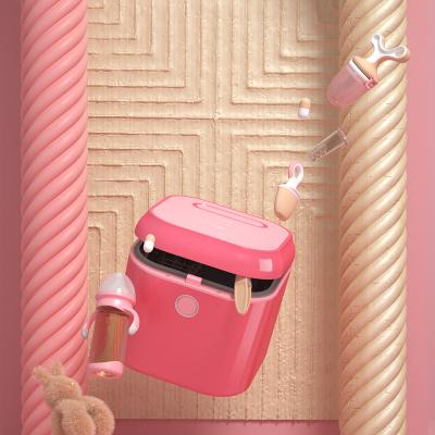babycare紫外線奶瓶消毒柜 消毒器帶烘干 多功能嬰兒奶瓶不銹鋼消毒鍋柜 經典款-魔力桃紅 8800D