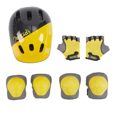 柒小佰 头盔护具套装 轮滑护具儿童溜冰鞋滑板平衡车自行车护具 护膝护肘护掌头盔7件套装