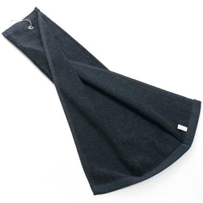 戶外新款高爾夫毛巾 棉高爾夫球巾掛巾球巾 高爾夫擦桿毛巾 單色 可以加印刺繡
