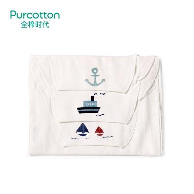 全棉時代 嬰幼兒紗布汗巾 25x50cm,3條/袋