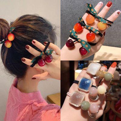 尚谷伊美韓版網紅頭繩橡皮筋扎頭發繩皮套發飾丸子頭飾簡約時尚發圈女成人