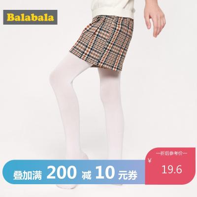 巴拉巴拉女童襪子春季新款長筒襪兒童打底襪彈力小女孩跳舞連褲襪