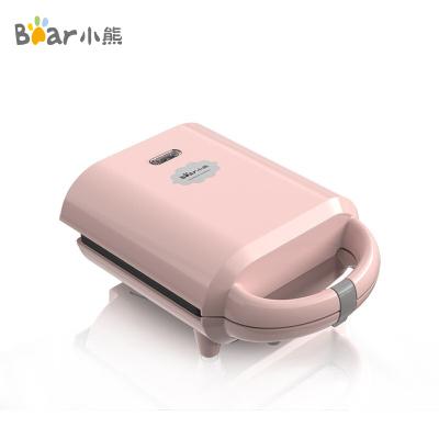 小熊(Bear)电饼铛 三明治机家用早餐机轻食机全自动吐司压烤机双面加热不粘烤锅DBC-P05K1粉色