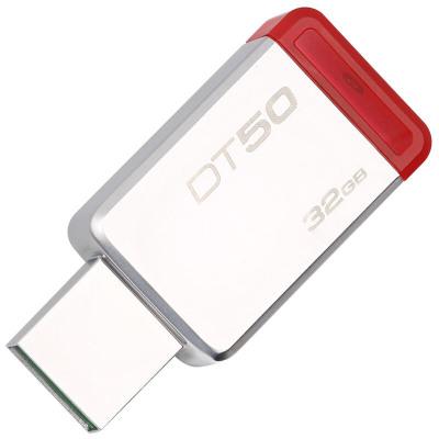 蘇寧自營金士頓(Kingston)USB3.1 32GB 金屬U盤 DT50 紅色