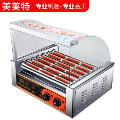 美萊特7管烤腸機商用熱狗烤香腸機全自動臺灣小型迷你火腿腸家用 7管帶門帶架子